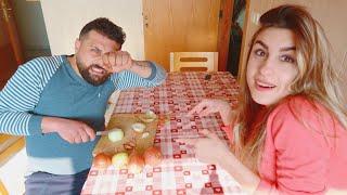 عاقبت زوجي وخليته يطبخ لأنه شمت فيني أثناء الشوبنغ(التسوق) 😅 يوم عفوي يجنن😍