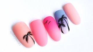 PALM TREES nail art 🌴💅 Palmy na paznokciach 🌴💅
