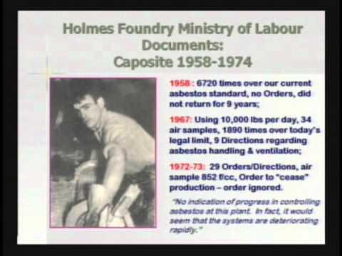 "2008 ADAO AAC: Dr. Jim Brophy, ""Asbestos Disease in Sarnia Ontario"""