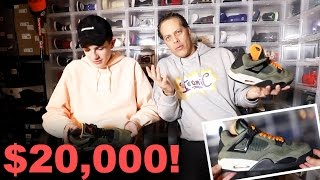 MY DAD REACTS TO MY $20,000 SNEAKERS...