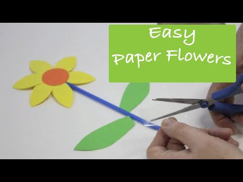 How to Make Paper Flowers - art and craft activity for presc