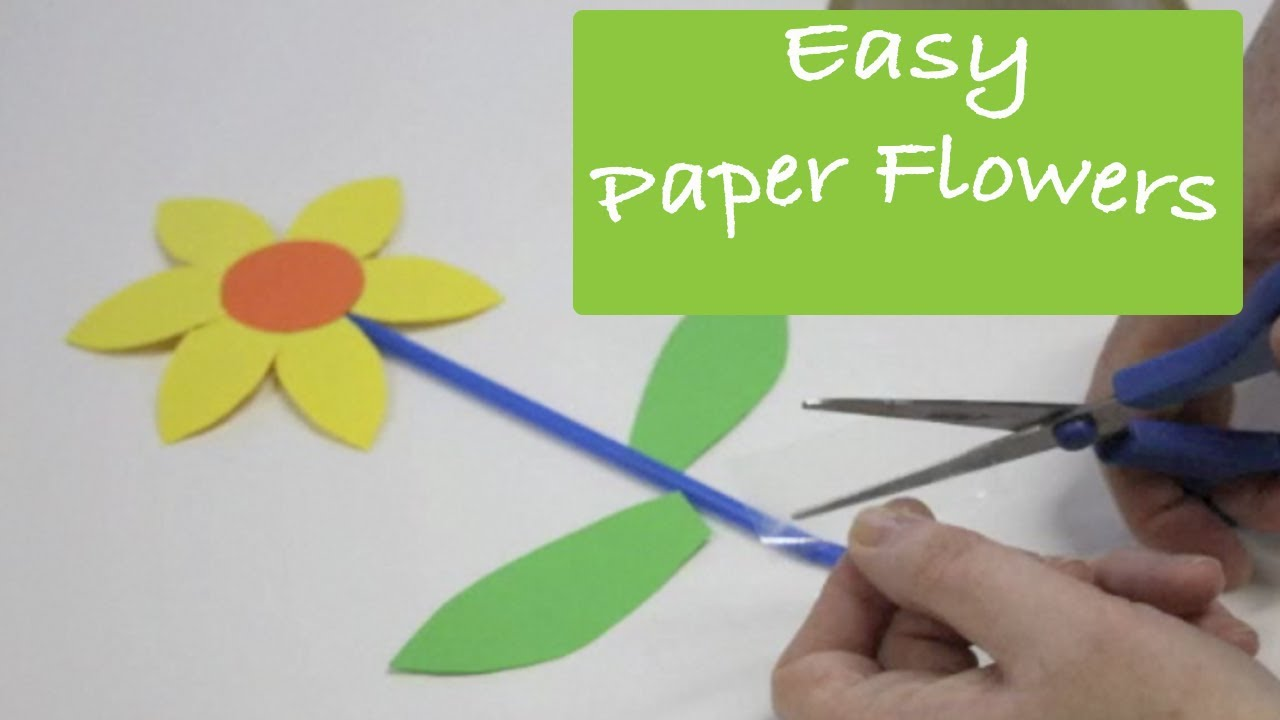 Paper Craft Ideas For Kids Videos Part - 48: How To Make Paper Flowers - Art And Craft Activity For Preschool Kids -  YouTube