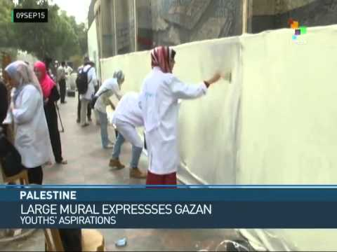 FTS | Palestine: Long Mural Expresses Aspirations of Gaza's Youth