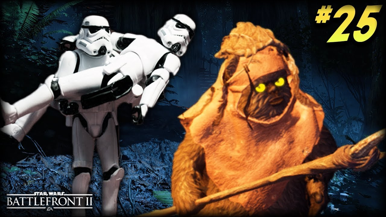 Star Wars Battlefront 2 Funny Moments 25 Scary Ewoks And