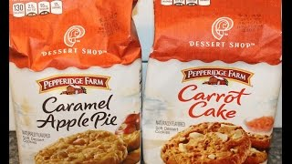 Pepperidge Farm Dessert Shop Cookies: Caramel Apple Pie & Carrot Cake Review