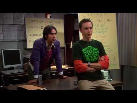 the Big Bang Theory 03x04  Sheldon and Raj work hard! HQ