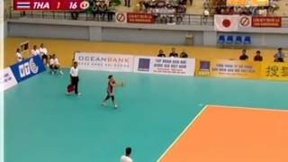 set 3/4 : Thailand VS Japan Semi-Final  15th Asian Women's Volleyball Championship 2009