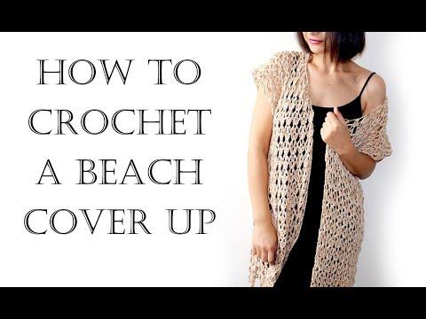 52d9c3d79be82 Crochet Easy Summer Vest | Beach Robe | Cover Up - YouTube