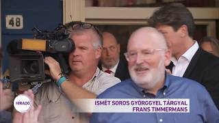 Soros Györggyel tárgyal Frans Timmermans