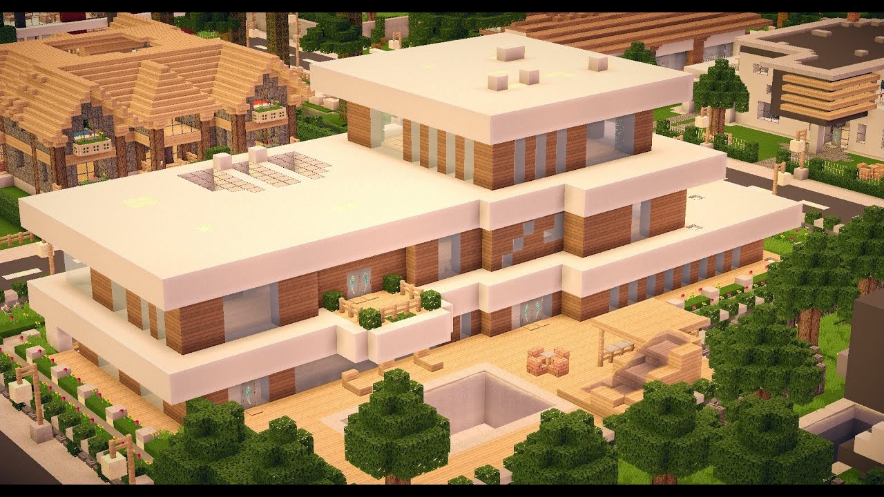 Minecraft - Modern House #003 HDDownload - Youube