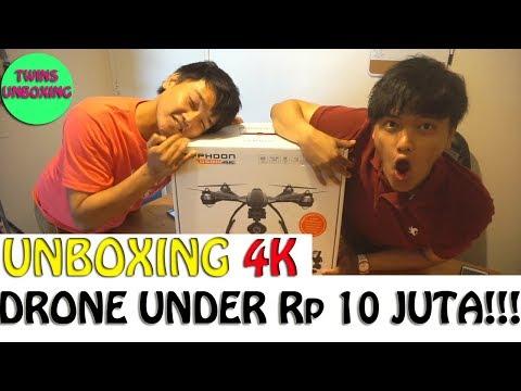 UNBOXING 4K DRONE CANGGIH HARGA TERJANGKAU (Typhoon Q500 4K)