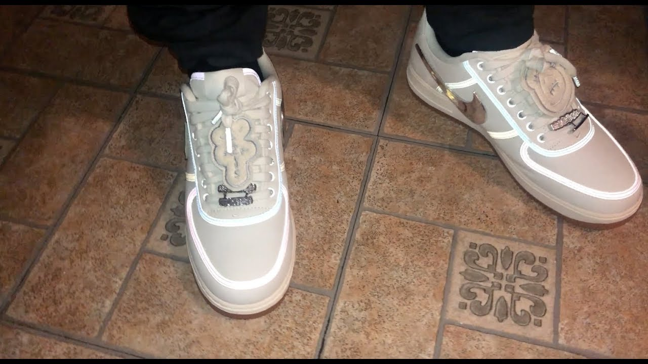 TRAVIS SCOTT X NIKE AIR FORCE 1 SAIL - YouTube 9772aedb2