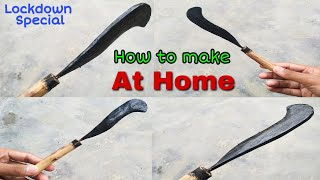 How to make a Indian knife at home।। Wooden Knife Making। How to make a wooden Cutter। Cutter making