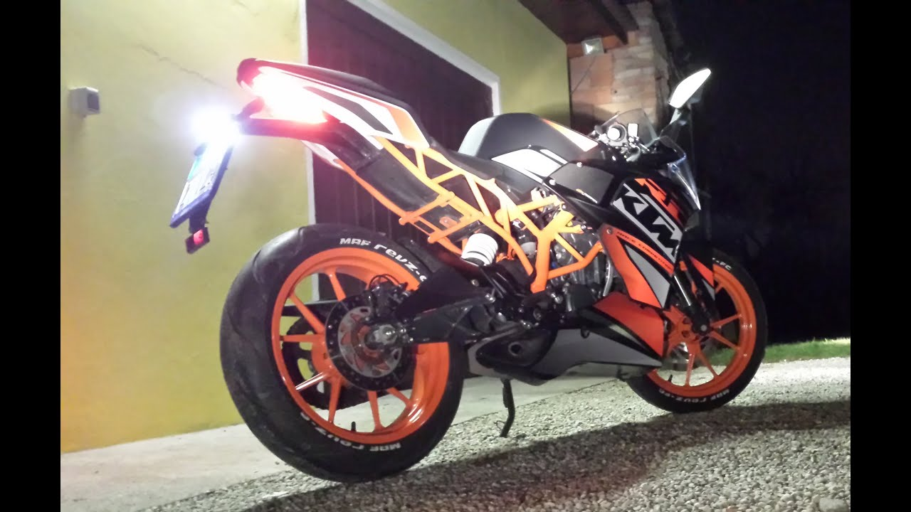 ktm rc 125 powerparts to night youtube. Black Bedroom Furniture Sets. Home Design Ideas