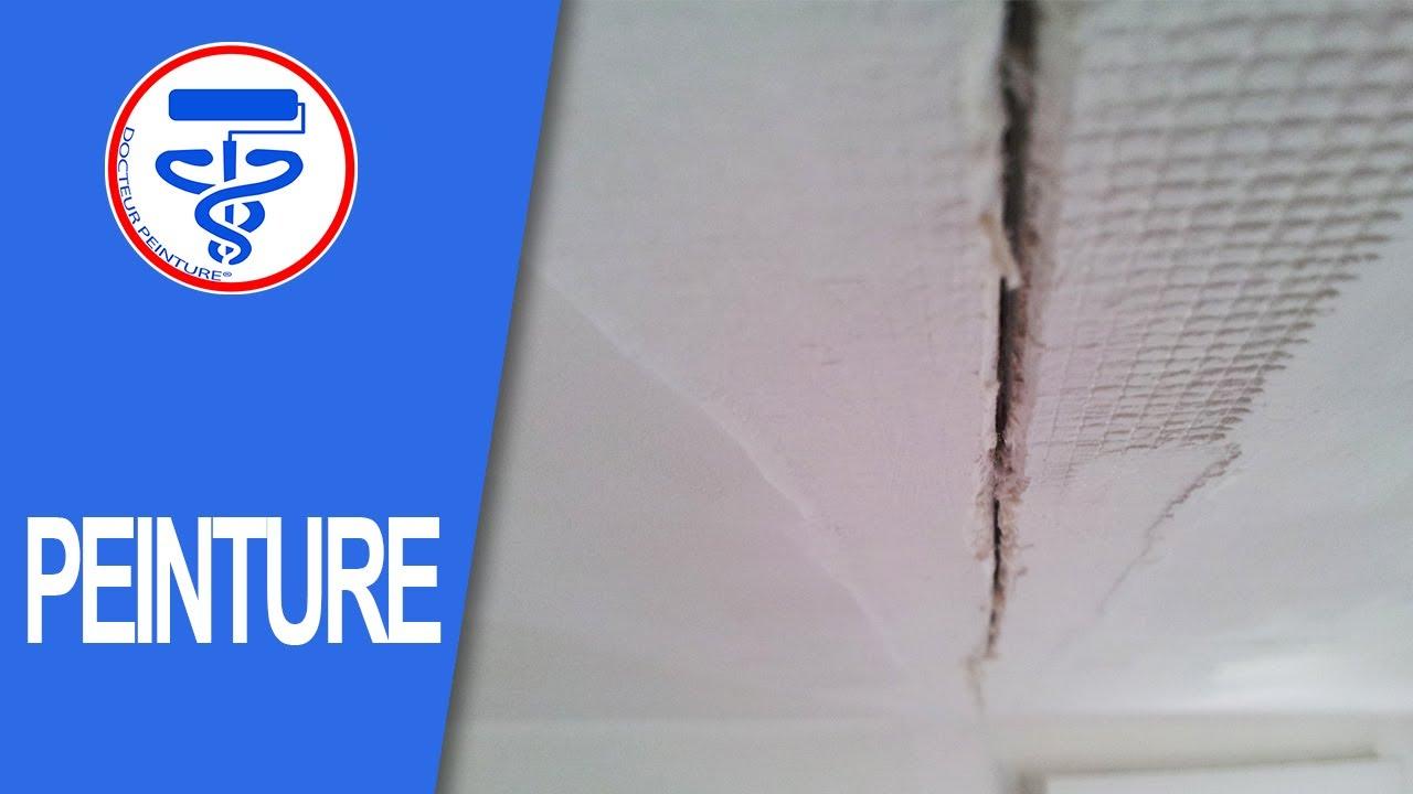 Réparer Un Plafond En Platre à ⏩comment réparer un plafond fissuré ? - youtube
