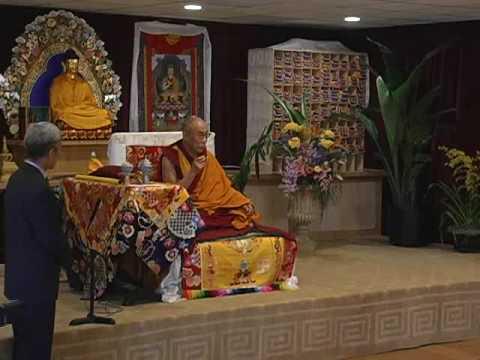The Dalai Lama inaugurates Jewel Heart Ann Arbor 4/20/08 Part1