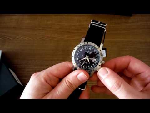 GLYCINE Airman DC-4 GMT Wristwatch UNBOXING