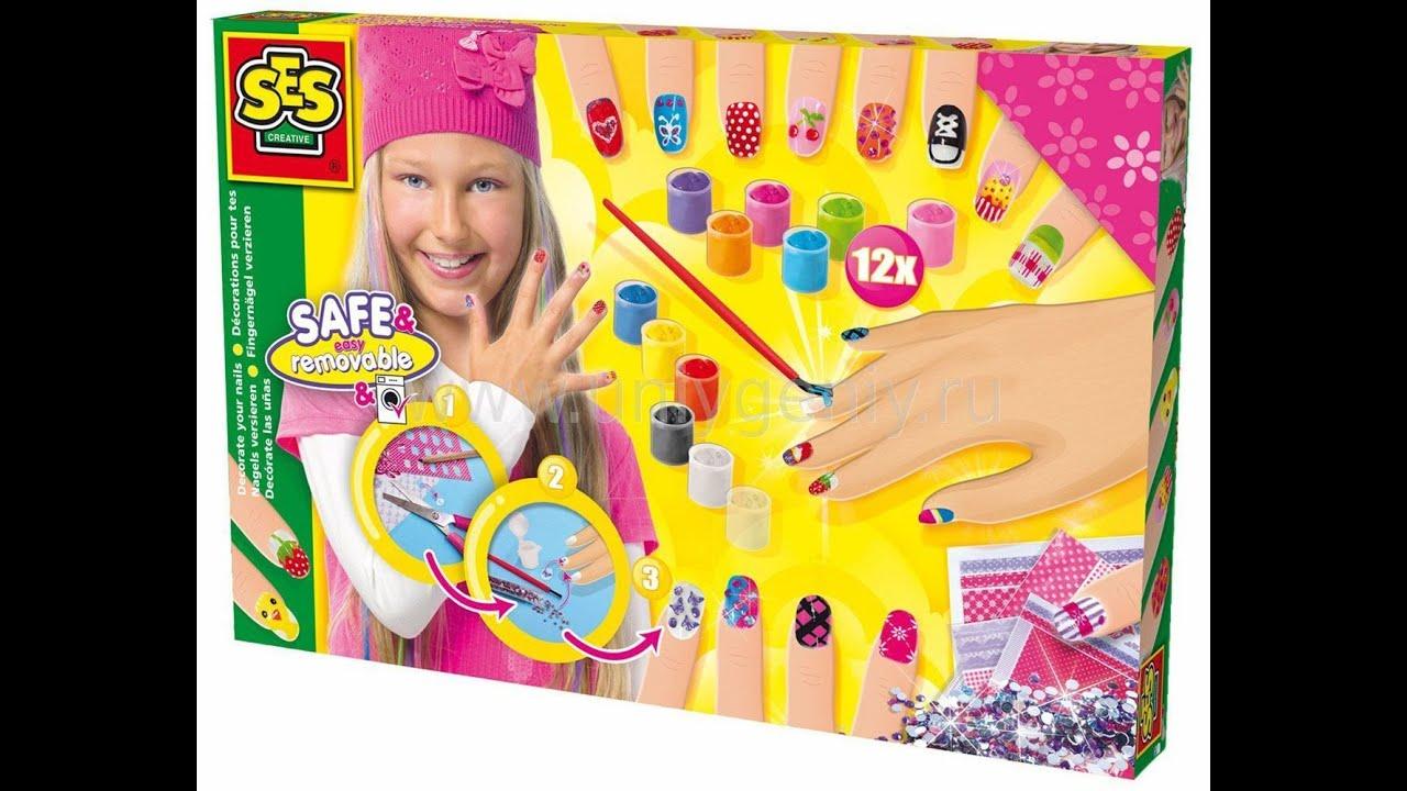 Красим ногти лаком. Видео для детей. Набор Декорируй ногти ...