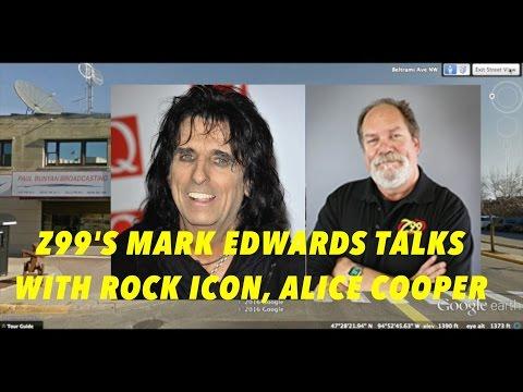 Z99's Mark Edwards Interviews Rock Icon, Alice Cooper