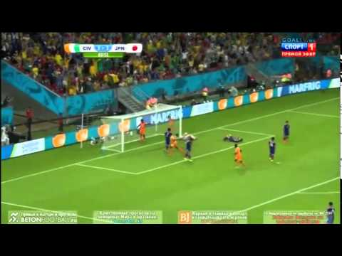 Ivory Coast vs Japan 2 - 1 World Cup 2014 Highlights