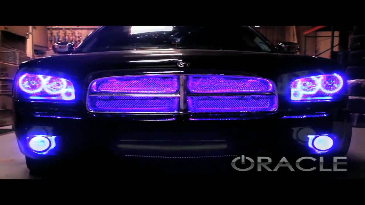 2016 Dodge Magnum >> Dodge Charger ColorSHIFT ORACLE Halo Kit and V2 Scanner by Advanced Automotive Concepts - YouTube