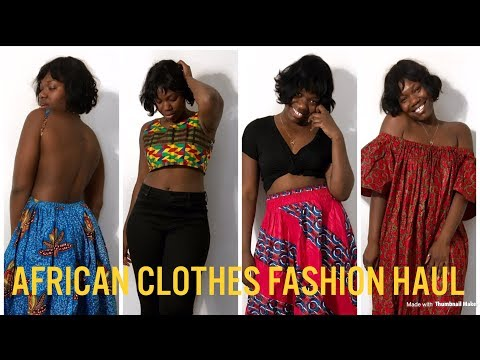 AFRICAN CLOTHES FASHION HAUL | AFRICAN PRINTS | TRY ON