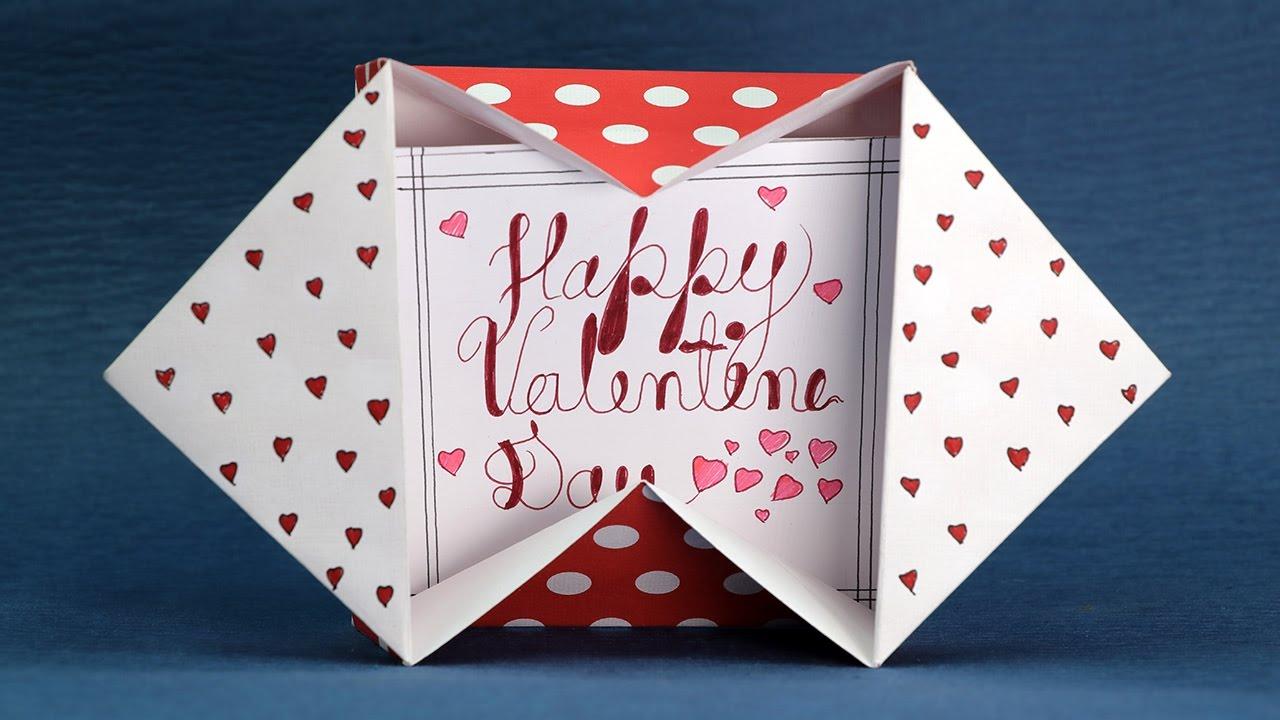 How To Make Valentine Message Card Step by Step  DIY Valentine