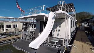 1996 Lakeview 16 x 68WB Houseboat For Sale on Norris Lake TN - SOLD!