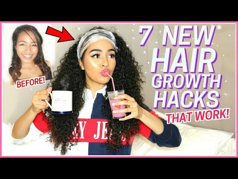 7 NEW HAIR GROWTH TIPS THAT YOU'VE NEVER HEARD - How to Grow Long Curly Hair - LANA SUMMER