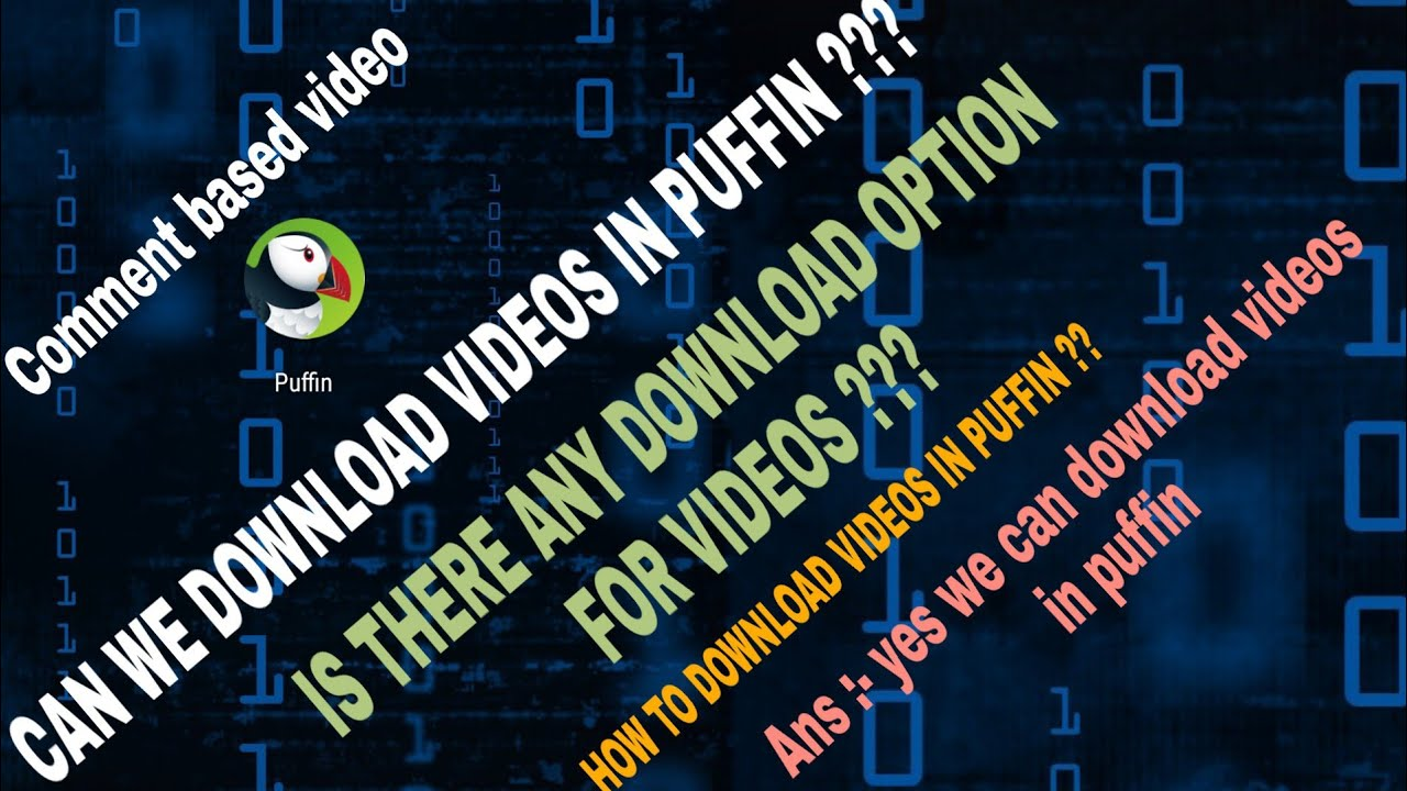 Download videos in puffin browser