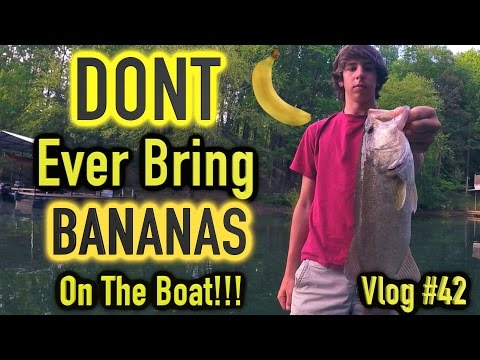 Fishing Lake Lanier ~ Bananas on a Boat = BAD LUCK! ~ Vlog #42