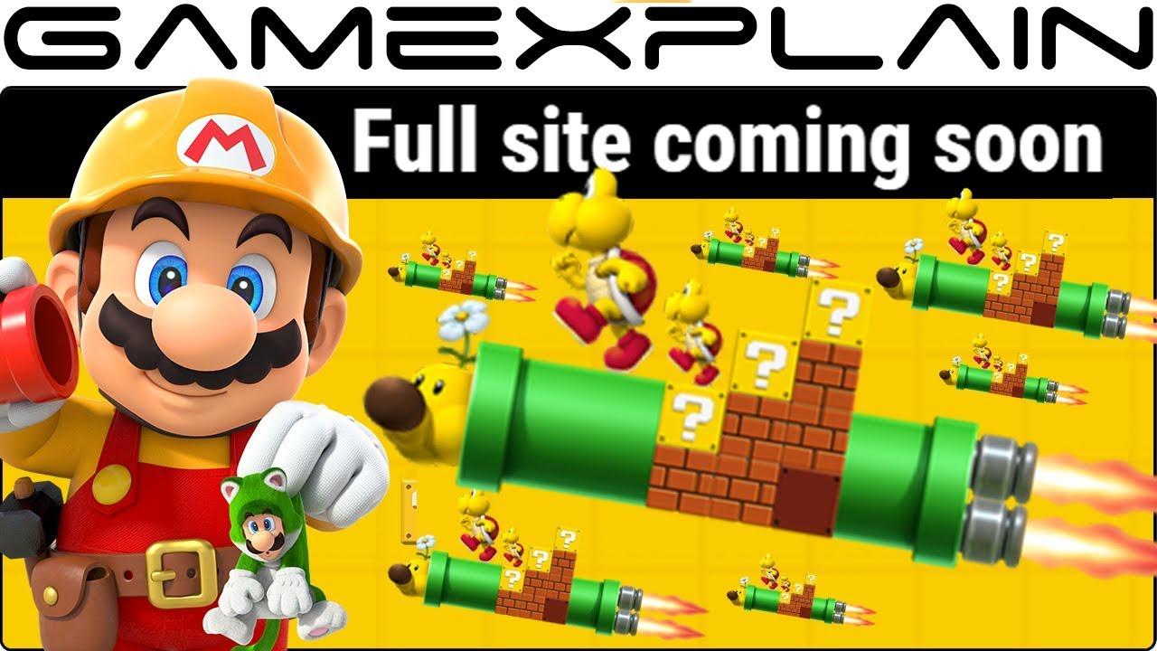 Super Mario Maker 2 Website Promises Update
