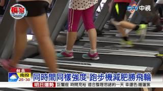 Repeat youtube video 【中視新聞】跑步機與踩飛輪 哪個消耗卡路里多? 20150822