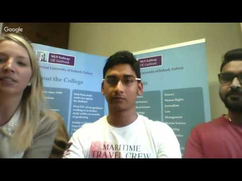 NUIG Google Hangout Session 2- Prospective Students 2016