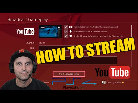 PS4 to YOUTUBE - How To Broadcast Gameplay - Camera and Audio Settings
