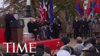 President Trump Honors Fallen Soldiers In World War I Commemoration Speech | TIME