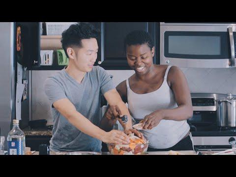 COOKING KOREAN FOOD FOR MY HUSBAND 한국 음식 만들기!