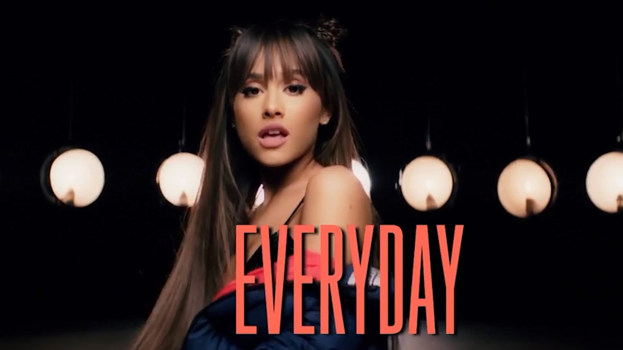 ariana grande dances in new everyday lyric video youtube