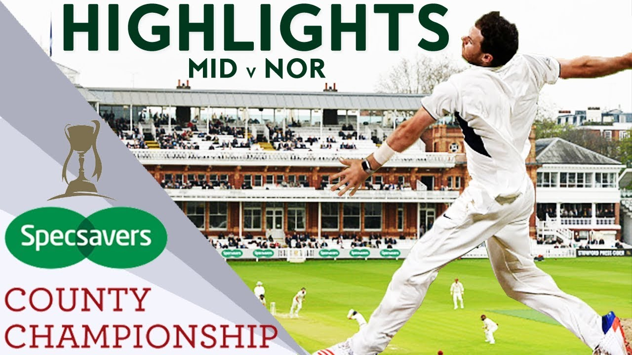 Harris Takes Match Figures Of 9-48 At Lord's: Mid v Northants - County Championship 2018 Highlights