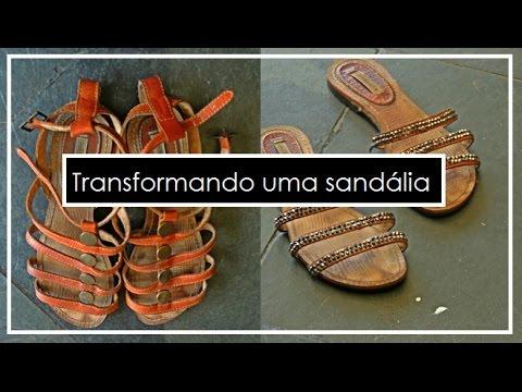75322cdc0 TRANSFORMANDO UMA SANDÁLIA - YouTube