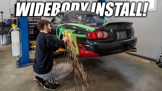 Installing the Krotov Widebody Kit on the Miata!