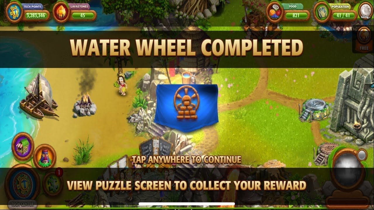 Virtual Villagers Origins 2 Puzzle 10 How To Build The Water Wheel Full Game Play Youtube