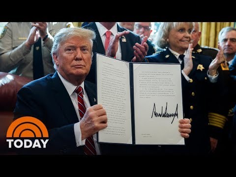 President Trump Vetoes Congressional Bill To Block Emergency Declaration | TODAY