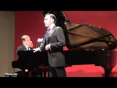 """Emilio Pons and Julius Drake perform Schubert's """"Die schöne Müllerin"""""""