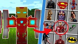Minecraft: NOVAS ARMADURAS DE HERÓIS NO MINECRAFT! (VINGADORES ULTIMATO! ) !