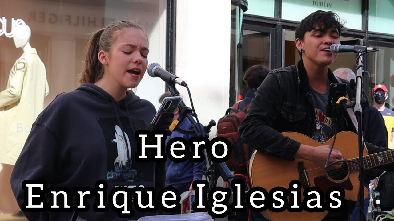 INDONESIAN BUSKERS GORGEOUS VOICE | Hero - Enrique Iglesias | Allie Sherlock & Jacob Koopman Cover