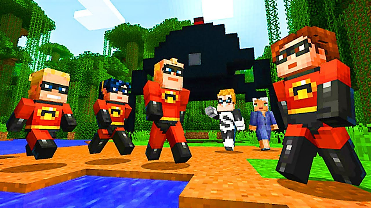 Minecraft The Incredibles Skins Pack Trailer  Ps Xbox One Switch Pc