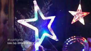 Đèn LED dây trang trí hình ngôi sao 4 màu ánh sáng + 8 chế độ nháy