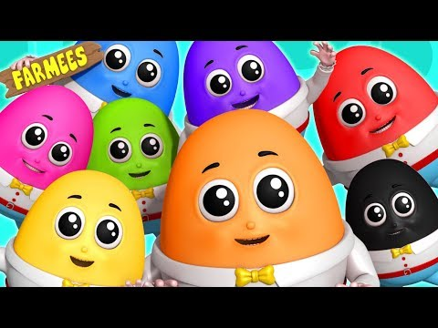 Humpty Dumpty Learning Color Cartoon For Childrens Nursery Rhymes Songs For Kids And Babies