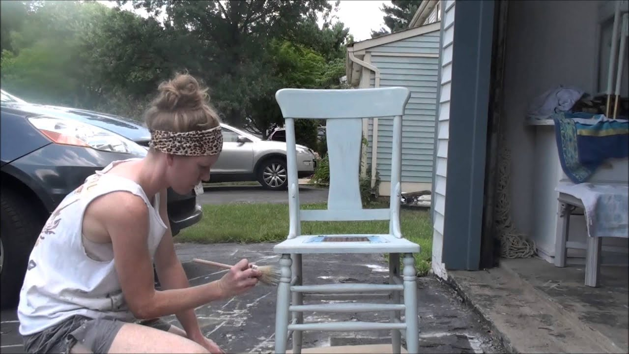 Chalk Painting A Chair YouTube